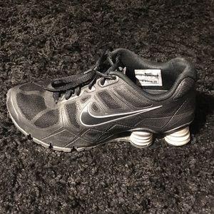 Nike Shox black silver gray size 8 women's
